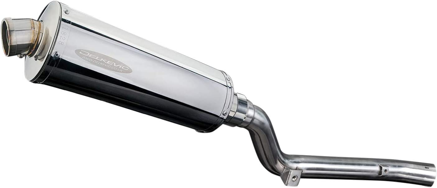 Delkevic Full 1-1 Exhaust compatible with Suzuki DRZ400S /& DRZ400SM Stubby 14 Stainless Steel Oval Muffler Exhaust 00-19