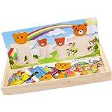 Childrens Famille Des Ours En Bois Dress-up De Puzzle Boîte Jouet