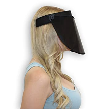 a43c4149 Solar Face Shield - 7 in Black Full Face Sun Protection: Amazon.ca: Beauty