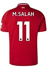 45dbc2fb573b6c Liverpool Home Jersey  11 M Salah 2018-2019 Mens Soccer Jersey Red(S