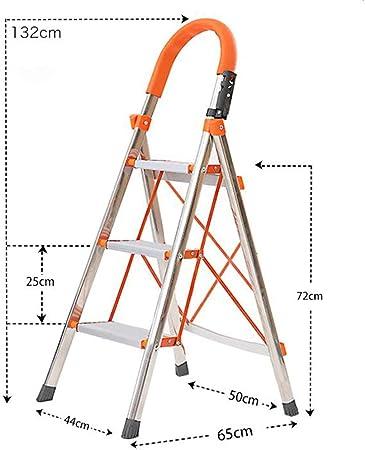 Xsgsgfs Escaleras Plegables peldaños, 3-Step / 4-Paso Escalera de Aluminio, Plegable Paso Stool, telescópica Escalera de Tijera, Escalera Multiusos, Anti-Slip Mat, Capacidad 150kg (Size : 3-Step): Amazon.es: Hogar