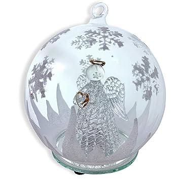 Amazonde Banberry Designs Led Glas Globe Weihnachtsbaum Ornament