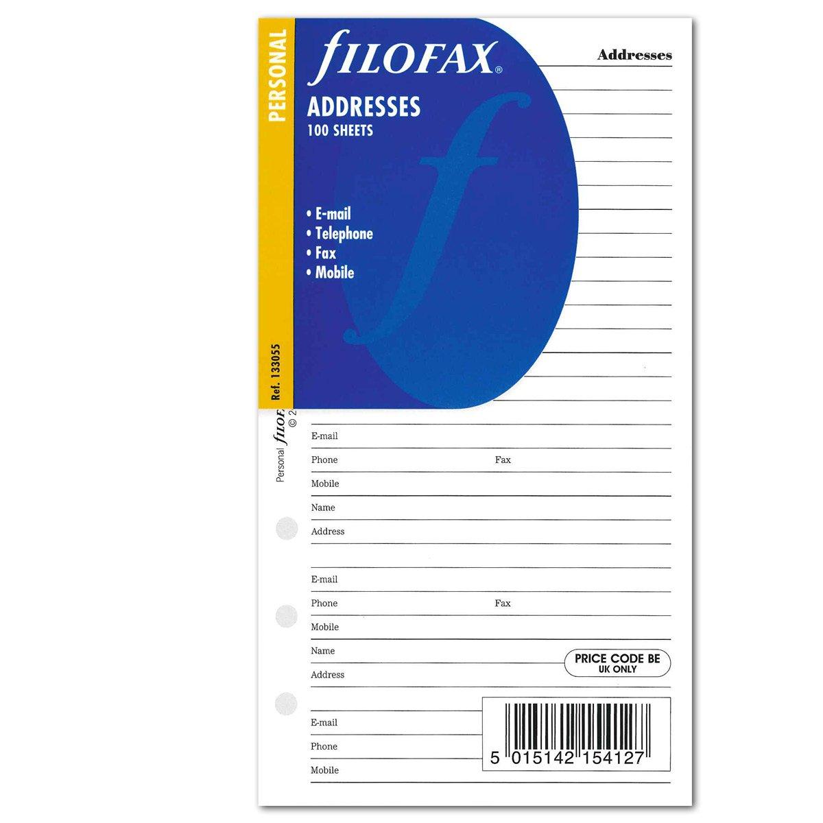 Filofax 133055personal contacts address book Filofax GmbH