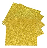 Expressions Vinyl - Gold - 9in. x 12in. 5-pack Siser Glitter Iron-on Heat Transfer Vinyl Sheets
