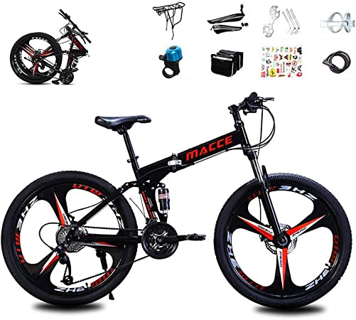 XHCP Bicicleta de montaña, Bicicletas de Carretera de suspensión Completa con Frenos de Disco, Bicicletas de MTB de suspensión Completa de Bicicleta de Velocidad para Hombres/Mujeres: Amazon.es: Hogar