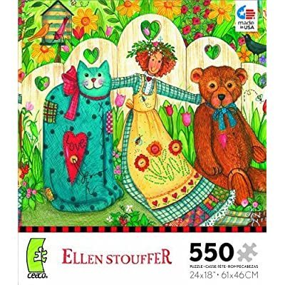 Ellen Stouffer Girl And Friends Jigsaw Puzzle By Ceaco