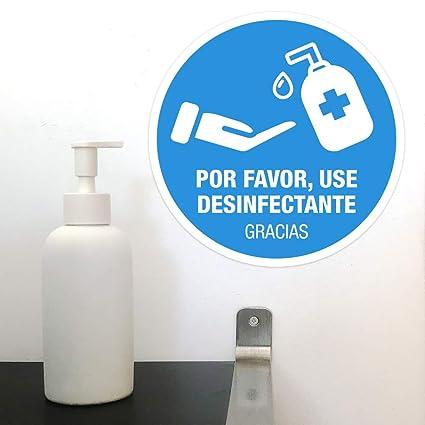 PVC 0.7mm Medida A4 Se/ñal Gel por favor utilice el desinfectante