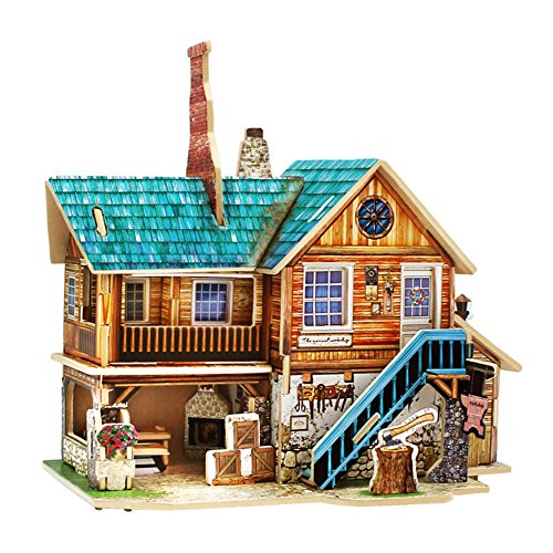 3d Puzzle Safe Foam Model Building Architecture Diy House Diy Forest Cabin House Tree Toys For Kids To Enjoy High Reputation At Home And Abroad Model Building