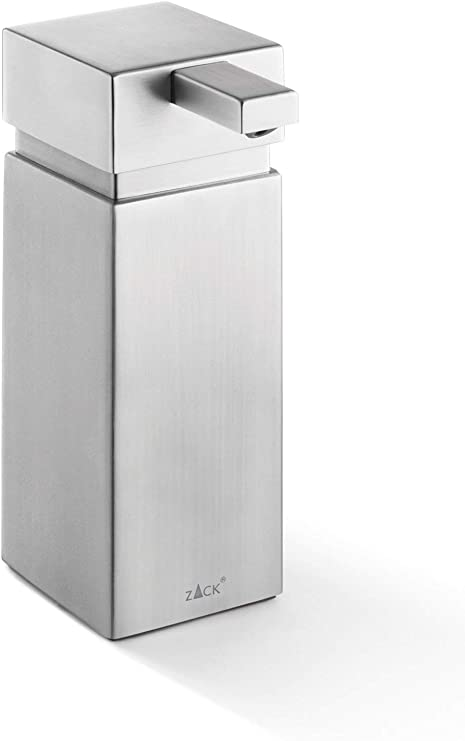 15,5 x 5,5 x 5,5 cm ZACK Dispensador de jab/ón Acero Inoxidable