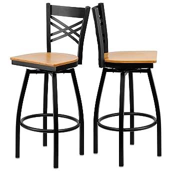 Admirable Amazon Com Modern Style Metal Dining Bar Stools Cross Back Dailytribune Chair Design For Home Dailytribuneorg