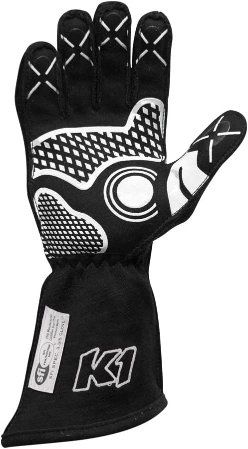 K1 RaceGear 23-CHP-N-S Champ Auto Racing Nomex Gloves SFI 3.3//5 Premium Auto Racing Gloves