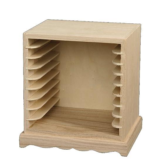 Porta cd da decorare, per decoupage, cm 16x13x17, in legno ...