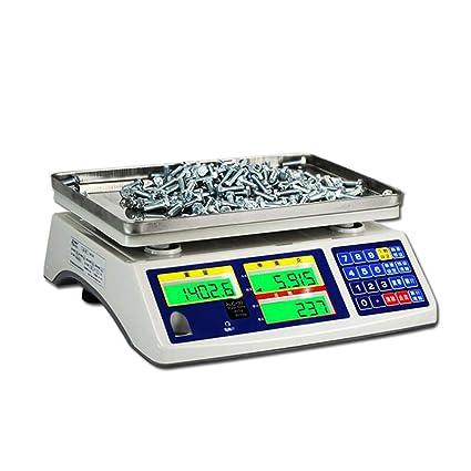 LLRDIAN Balanza de conteo electrónico ·3, 6, 15, 30 kg Puntos industriales