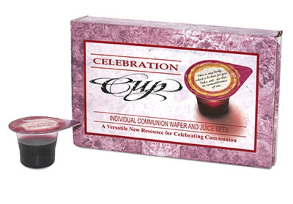 Communion Supplies-Celebration Wafer and Juice Set - Serves 3 by Celebration Cup