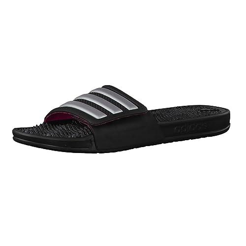huge selection of c614d f41c0 adidas Adissage 2.0 Stripes, Chaussures de Plage  Piscine Femme, Noir  (Core Black