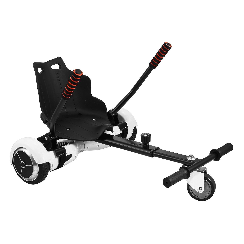 VEVOR Hover Kart Two Wheel Self Balancing Scooter Adjustable Go Kart 6.5 8 10 Hover Go Kart Hoverboards Black