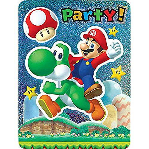 Super Mario Brothers Jumbo Deluxe Invitations [8 Per Pack] -