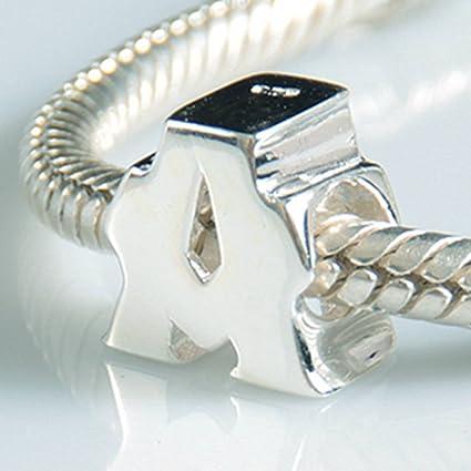 abalorios pulsera pandora letra