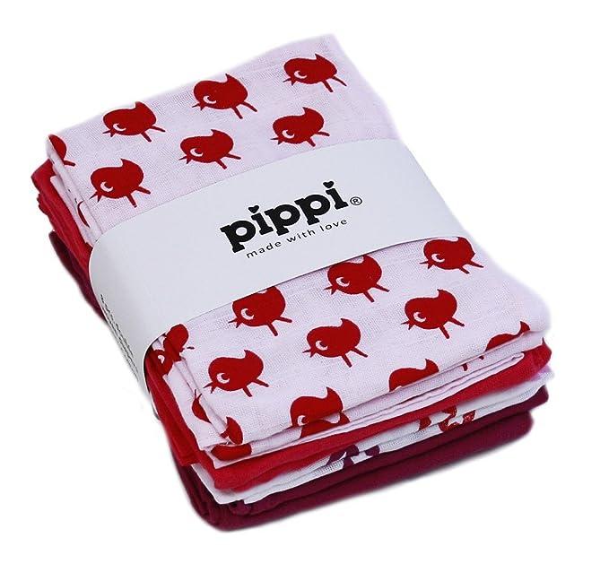 Pippi bebé Pañales reutilizables Pañales de tela Paños babas 4 Piezas 1266 en rosa (oscuro rosa 577) - algodón, rosa (oscuro rosa 577), 100% algodón, ...