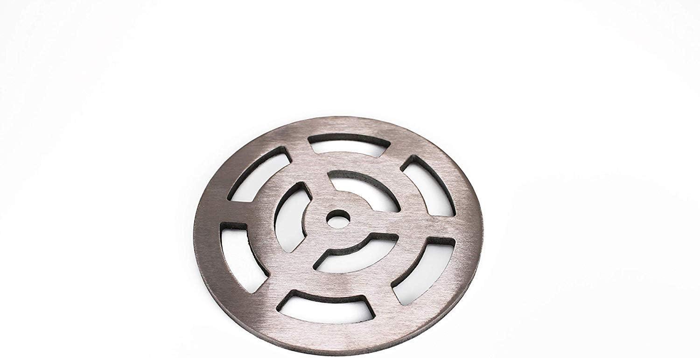 Griglia di scarico rotonda in acciaio inox massiccio in acciaio inox 105 mm resistente