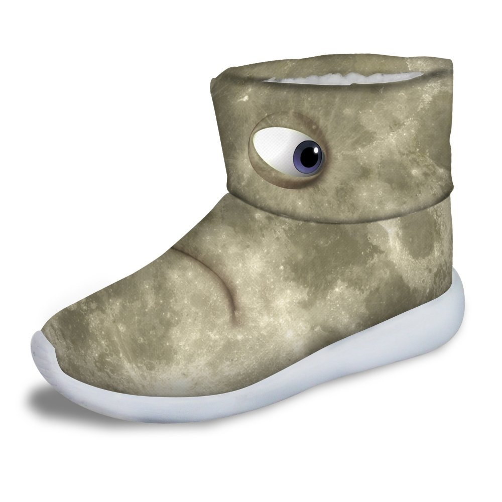 FOR U DESIGNS Cool Mars Eye Stype Children Cozy Warm Short Ankle Boots Size 3