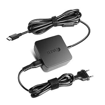 65W Type C Cargador Adaptador de Corriente USB-C para Ordenador Portatil ThinkPad X1 X280 X270 X570 E480 Yoga 920 910 ASUS UX490UA C423NA UX370U ...