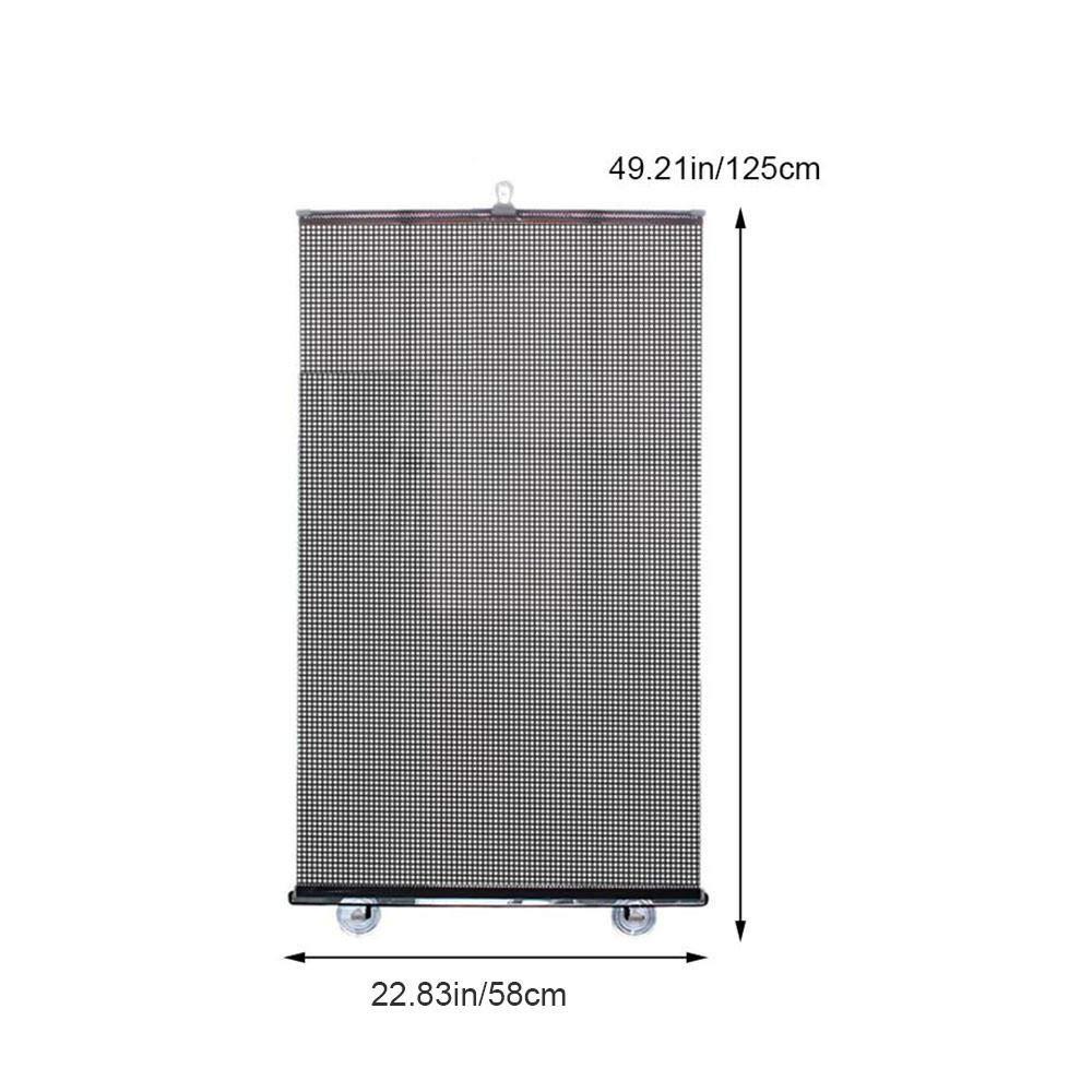 15.8 * 23.6inch persiana Enrollable Universal con ventosas Parasol del Coche Que Mantiene tu veh/ículo Fresco Negro Hamkaw Parasol para Parabrisas de Coche