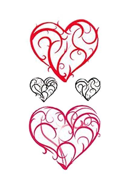 1 Satz creativos Corazón Patrón en forma de tatuaje pegatinas ...
