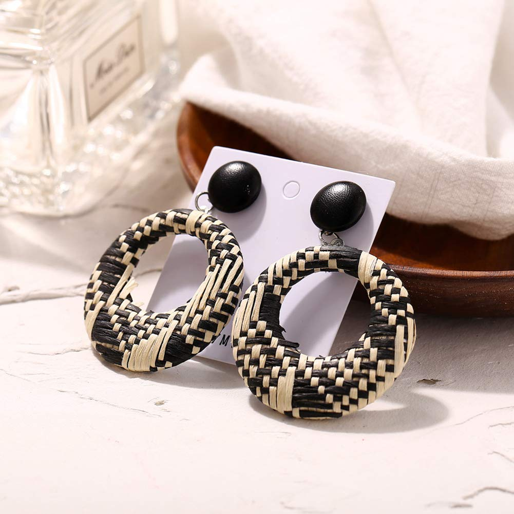 MOTHERS DAY GIFTS 1Pair Women Bohemian National Wind Retro Rhinestone Ear Stud Earrings Jewelry Eardrop Gift