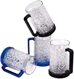 Double Wall Gel Frosty Beer Mugs, Freezer Ice Mugs, Drinking Glasses