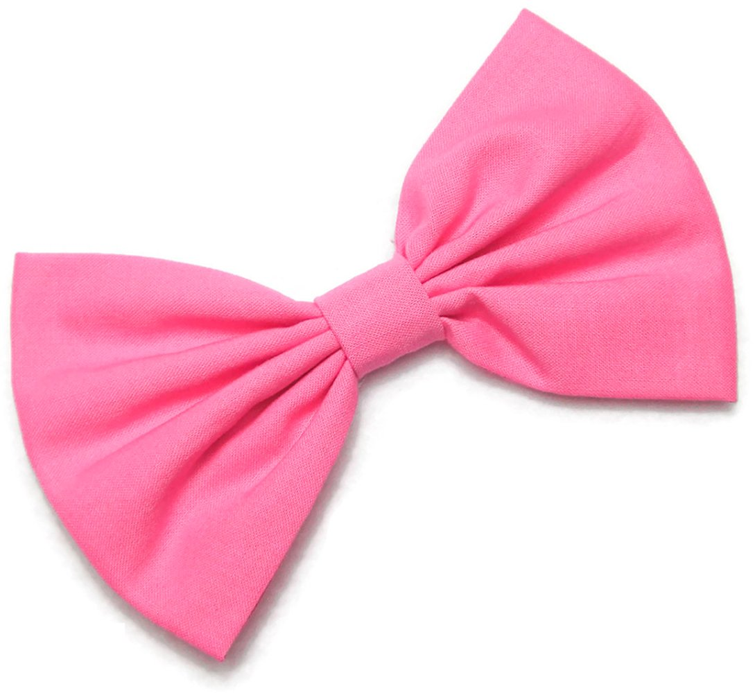 Hand made Pink //silver hair bow//clip bow