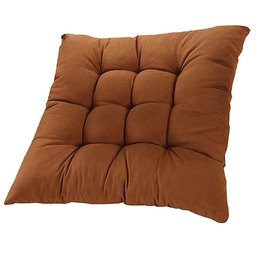 Desconocido Cojines del asiento de absorción de choques para silla de comedor al aire libre Muebles de jardín Decoración Marrón