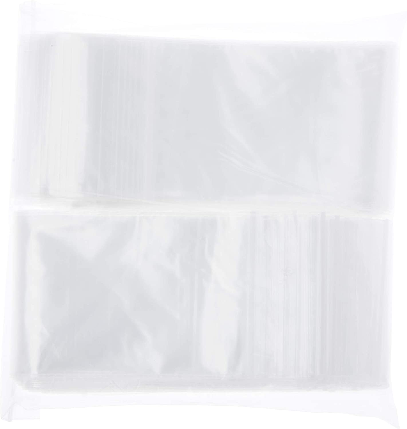1000-2x10 Clear Poly Plastic Bags Packaging Shipping Lay-flat Baggie 2 Mil FDA