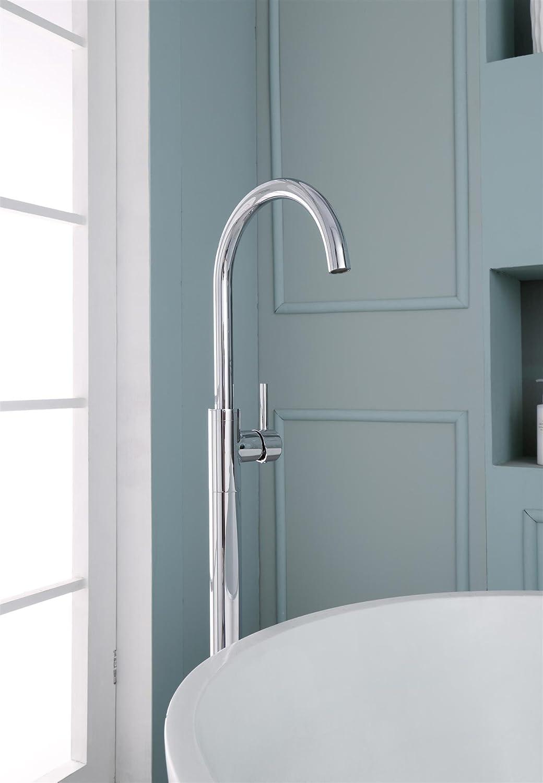 Ariel Single-Handle Freestanding Roman Tub Faucet In Chrome ...