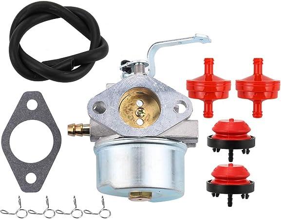 Amazon.com : Dalom 640260 Carburetor w Primer Bulb Fuel Filter for Tecumseh  HM80 HM85 HM90 HM100 LH318XA LH358XA LH358EA Engine 640260A 640260B 640269  : Garden & OutdoorAmazon.com