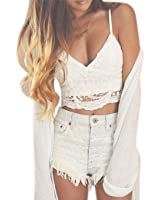 WILLTOO Clearance Women Crochet Tank Camisole Lace Vest Bra Crop Top