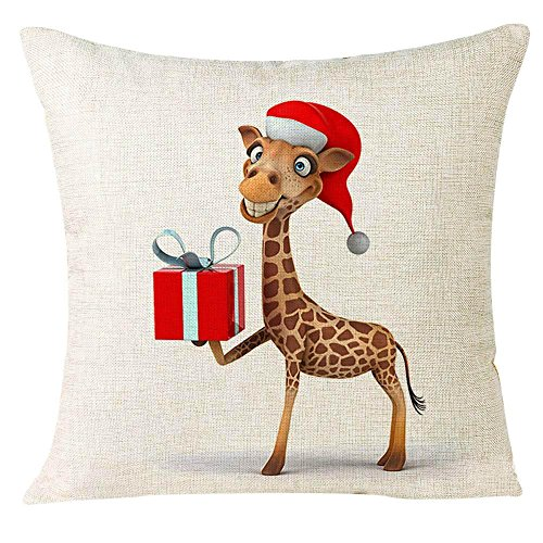 Pillow Cases,IEason Clearance Sale! Xmas Christmas Animal Sofa Home Decoration Festival Pillow Case Cushion Cover (D) for $<!--$0.99-->