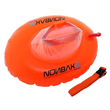 Nonbak, Boya Natación Estanca Donut, Capacidad De Carga 10 Liter , Naranja, Talla