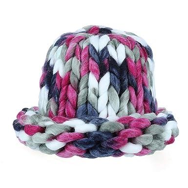 KOLY Donne Cappello Cappucci voluminosi in cotone Cappelli fatti a mano a  maglia cappello maglia cappello cappello grosso spessa stretchy slouchy  Berretti ... 3b44de6431ce