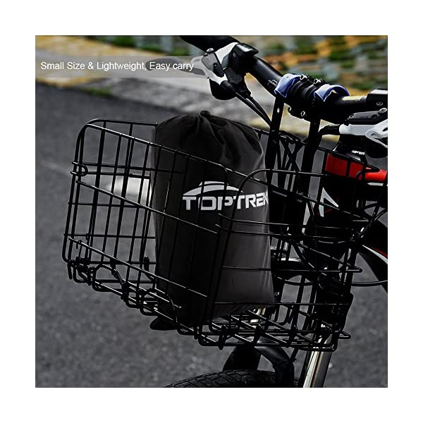 61UNmpt3suL toptrek Fahrradabdeckung Wasserdicht 210T Oxford-Gewebe Hochwertige Fahrradgarage Plane Wasserfest 200 x 110 x 70 cm…