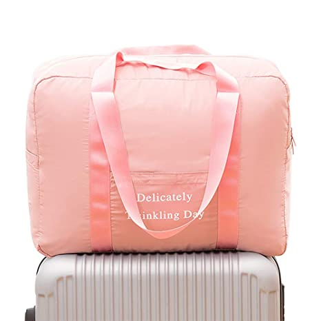 086aff5a9136 Belsmi Foldable Travel Duffle Bag Waterproof Lightweight Storage Carry  Luggage Gym Sports Tote Bag (Pink)