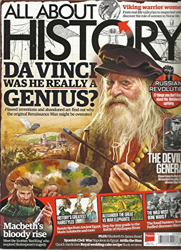 ALL ABOUT HISTORY MAGAZINE, DA VINCI WAS HE REALLY A GENIUS ? ISSUE, 2017# 58