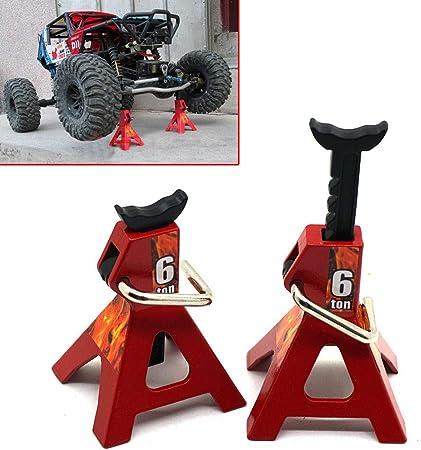2Pcs 1//10 RC Cars Metal Jack Stands Repairing Tool 2Pcs//Set RC Crawler Clim Z3V8