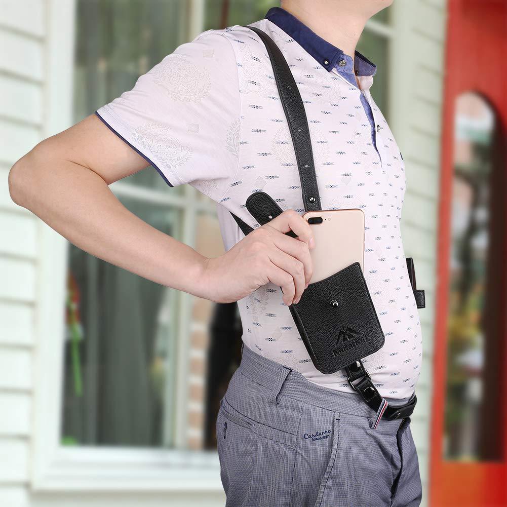 Men/'s Anti-Theft Wallet Hidden Underarm Strap Purse Holster Phone Shoulder Pouch