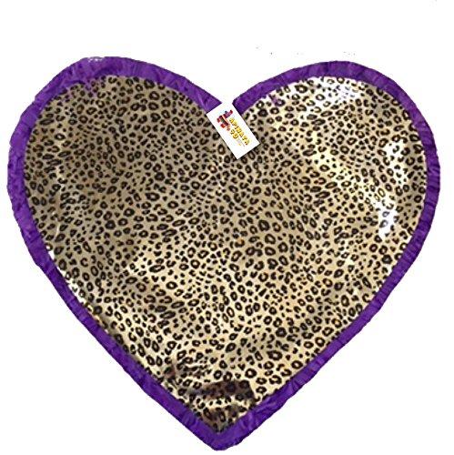 Purple Color & Leopard Print Heart Pinata