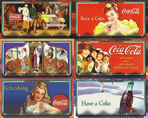COCA COLA A SIGN OF GOOD TASTE 1996 COLLECT-A-CARD COMPLETE BASE CARD SET OF 72