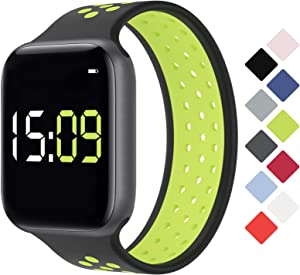 SAMYERLEN Solo Loop Watch Band Compatible with Apple Watch 38mm 40mm 42mm 44mm, Solo Loop Breathable Apple Watch Bands for Women Men, Replacement Wristband for iWatch Series 1/2/3/4/5/6/SE (B+V-38M)