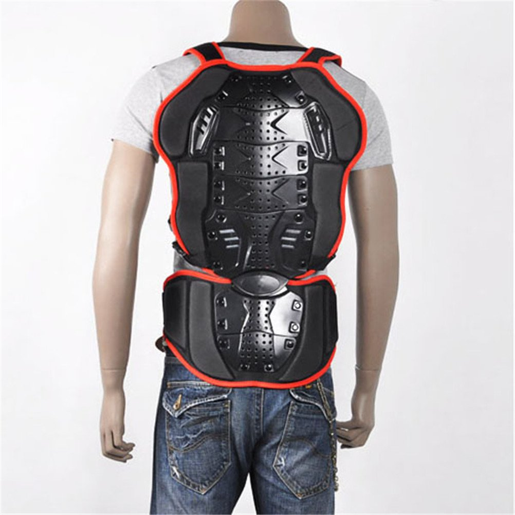 Liquor Motorcycle New For BMX MX MOTO Sports Black-Red Men Women Adult Race Racing Ride Riding Skiing Skate Skating Armor Back Spine Protector Guard Pads