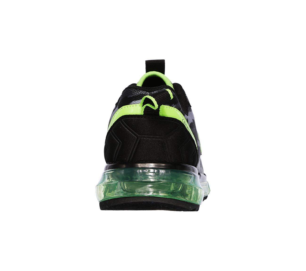Skechers Boys's Skech-Air Mega, Training, Black,Lime, 12 US M Litte Kid