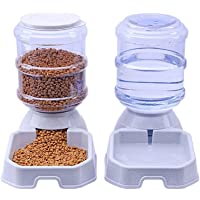Chuanyue Pet Waterer Feeder,Pet Automatic Waterer,Dog Water Dispenser,1 Gallon Cat Dog Food and Water Dispenser